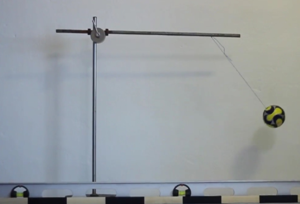 Závislost periody kyvadla na hmotnosti závaží – Videoanalýza